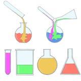 ustawiać chemii ikony Zdjęcia Royalty Free