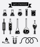 Ustawia chemika Obrazy Stock