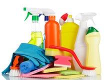Ustawiać Cleaning rzeczy Zdjęcia Stock