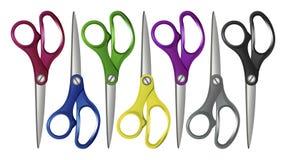 Ustawia Colorfull nożyce Zdjęcie Stock