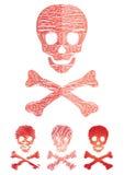 ustawia czaszkę obrazy royalty free