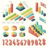 Ustawia 3d szablonu infographic prezentację Isometric Zdjęcie Royalty Free
