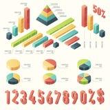 Ustawia 3d szablonu infographic prezentację Isometric Zdjęcie Stock