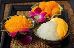 Ustawia deserowego Tajlandzkiego jedzenie Zdjęcie Stock