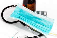 Ustawia dla grypowego traktowania - zdrowie i medycyny pojęcie obraz stock