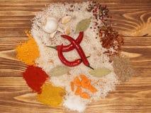 Ustawia dla jarzynowego paella, pilaf, risotto zdjęcia stock