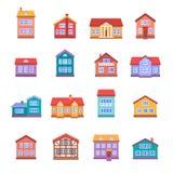 ustawiać domowe ikony Fotografia Stock