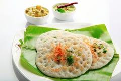 Ustawia dosa z currym i chutney zdjęcie royalty free