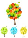 ustawia drzewa Zdjęcia Stock