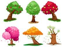 ustawia drzewa Obraz Royalty Free