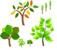 ustawia drzewo wektor Obrazy Royalty Free