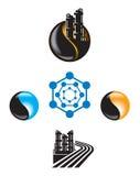 Emblemat dla Ropa I Gaz przemysłu ilustracji