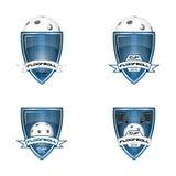 Ustawia floorball loga dla drużyny i filiżanki Zdjęcie Royalty Free