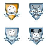 Ustawia floorball loga dla drużyny i filiżanki Obraz Royalty Free