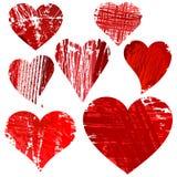 Ustawia folwarczków serca. Zdjęcie Stock