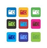 Ustawia fotografii kolorowe ikony Obraz Stock