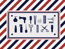 Ustawia fryzjera męskiego Zdjęcia Stock