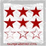 Ustawia grunge gwiazdy. Zdjęcie Royalty Free