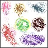 Ustawia grunge projekta elementy. Wektorowi abstrakcjonistyczni symbole. Obraz Stock