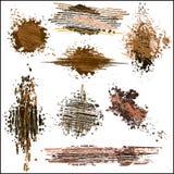 Ustawia grunge projekta elementy. Wektorowi abstrakcjonistyczni symbole. Obrazy Royalty Free