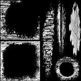 Ustawia grunge projekta elementy. Wektorowi abstrakcjonistyczni symbole. Zdjęcia Royalty Free