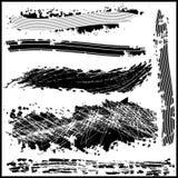 Ustawia grunge projekta elementy. Wektorowi abstrakcjonistyczni symbole. Zdjęcie Stock