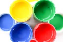 Ustawia guasz farby dla dzieci odizolowywających na białym tle zdjęcia royalty free