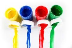 Ustawia guasz farby dla dzieci odizolowywających na białym tle obrazy royalty free