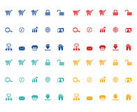 ustawiać handel ikony e royalty ilustracja
