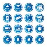 Ustawia handlarskie ikony Zdjęcie Royalty Free