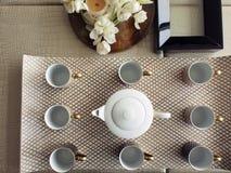 ustawia herbacianych gości Zdjęcie Royalty Free