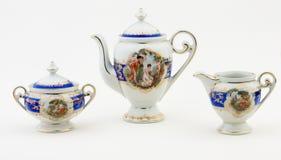 ustawia herbaty Obrazy Royalty Free