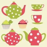 ustawia herbaty Obrazy Stock