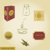 Ustawia herbaty Obraz Royalty Free