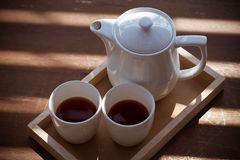 ustawia herbaty Zdjęcie Royalty Free