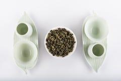 ustawia herbaty Odgórny widok Fotografia Stock