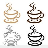 Ustawia ikonę filiżanka kawy dla różnego projekta ilustracja wektor