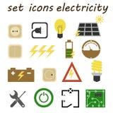 Ustawia ikona elektryka Zdjęcia Royalty Free