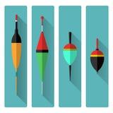 Ustawia ikona pławiki na popielatym tle ilustracji