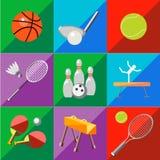 Ustawia ikona sportów wyposażenie na brzmienia tle Zdjęcia Royalty Free