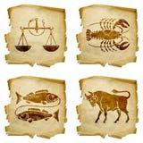 Ustawia ikona zodiaka stary -03 Obraz Royalty Free