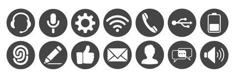 Ustawia ikony dla telefonu - wektor royalty ilustracja