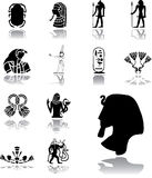 Ustawia ikony - 156. Egipt Obrazy Stock