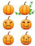 Ustawia ikony Halloween dyniową wektorową ilustrację ilustracja wektor