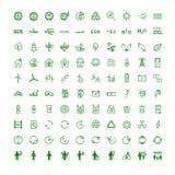 Ustawia ikony na temat ekologii ilustracji