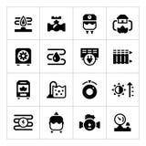 Ustawia ikony ogrzewanie royalty ilustracja