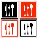 Ustawia ikony z kuchennym artykuły ilustracja wektor