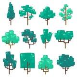 Ustawia ilustrację drzewa Fotografia Royalty Free