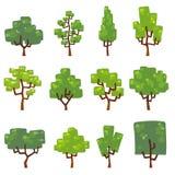 Ustawia ilustrację drzewa Obraz Stock