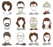 Ustawia ilustracje -- avatars Obrazy Royalty Free